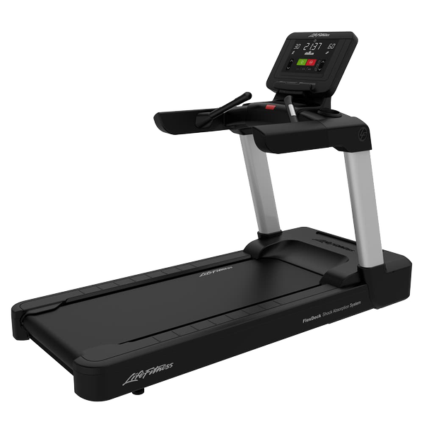 Life Fitness Integrity Series Treadmill C Console Arctic Silver Simple Base