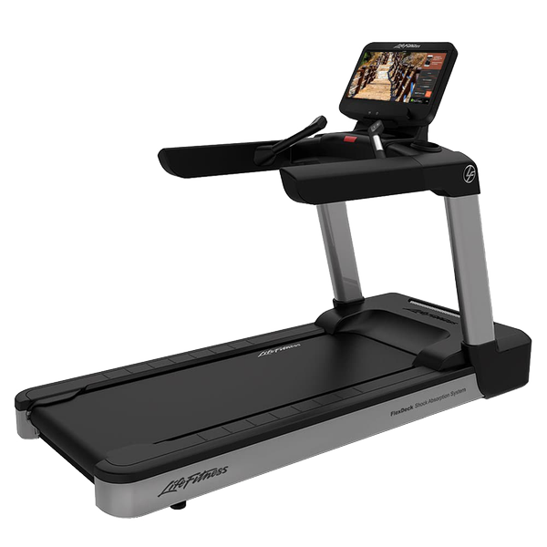 Life Fitness Integrity Series Treadmill Discover SE3 HD Arctic Silver Deluxe Base