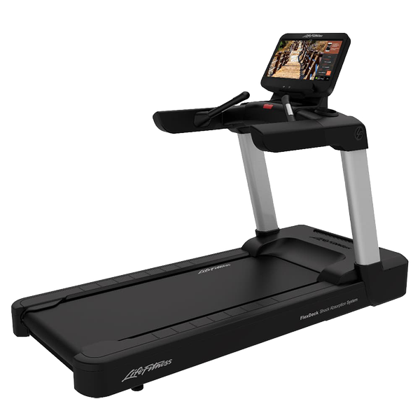 Life Fitness Integrity Series Treadmill Discover SE3HD Arctic Silver Simple Base