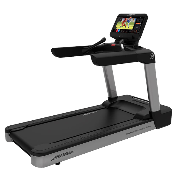 Life Fitness Integrity Series Treadmill Discover ST Arctic Silver Deluxe Base