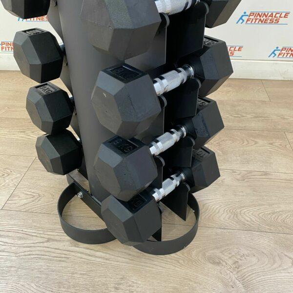 hex rubber dumbbell set