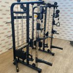 Dual-Pulley-Smith-Machine-Power-Rack-Combo-by-Blitz-Fitness-New-184383544870-3