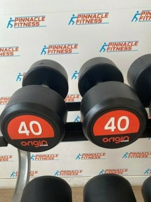 Origin Premium Rubber Dumbbell Pair