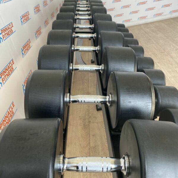 Origin Commercial Rubber Dumbbell Set 40kg - 70kg With Rack
