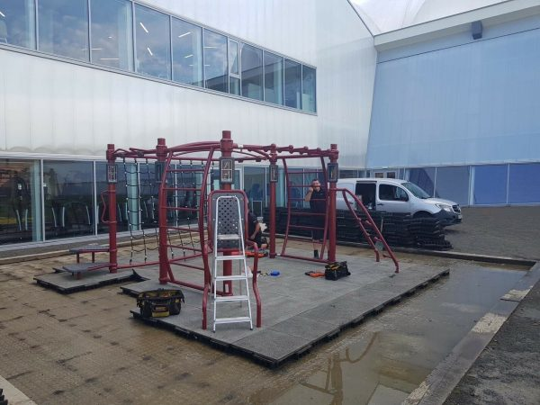 Life Fitness Synrgy Bluesky Outdoor Functional Training Rig With 50m2 Flooring