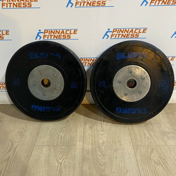 Eleiko Sport Weightlifting Training Disc - Black 2 X 20kg Weight Plates